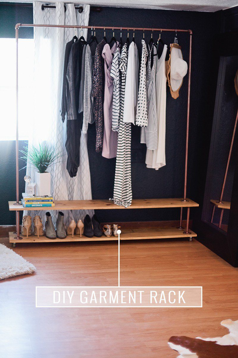 Rolling diy garment rack for your wardrobe fresh mommy for How to make wardrobe closet