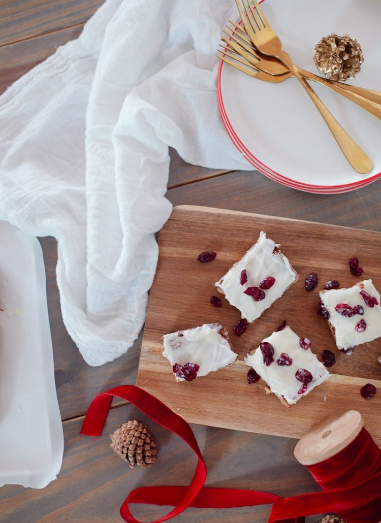 Cranberry Bliss Blondies for the Ultimate Holiday Dessert