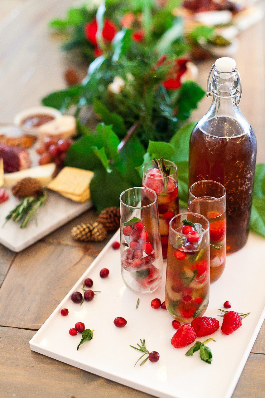 Merry and Bright Christmas Ice Cubes and the Ultimate Holiday Cheese Board! It's the perfect accompaniment for a meaningful meal, whether with family, for a holiday party or a night with friends!