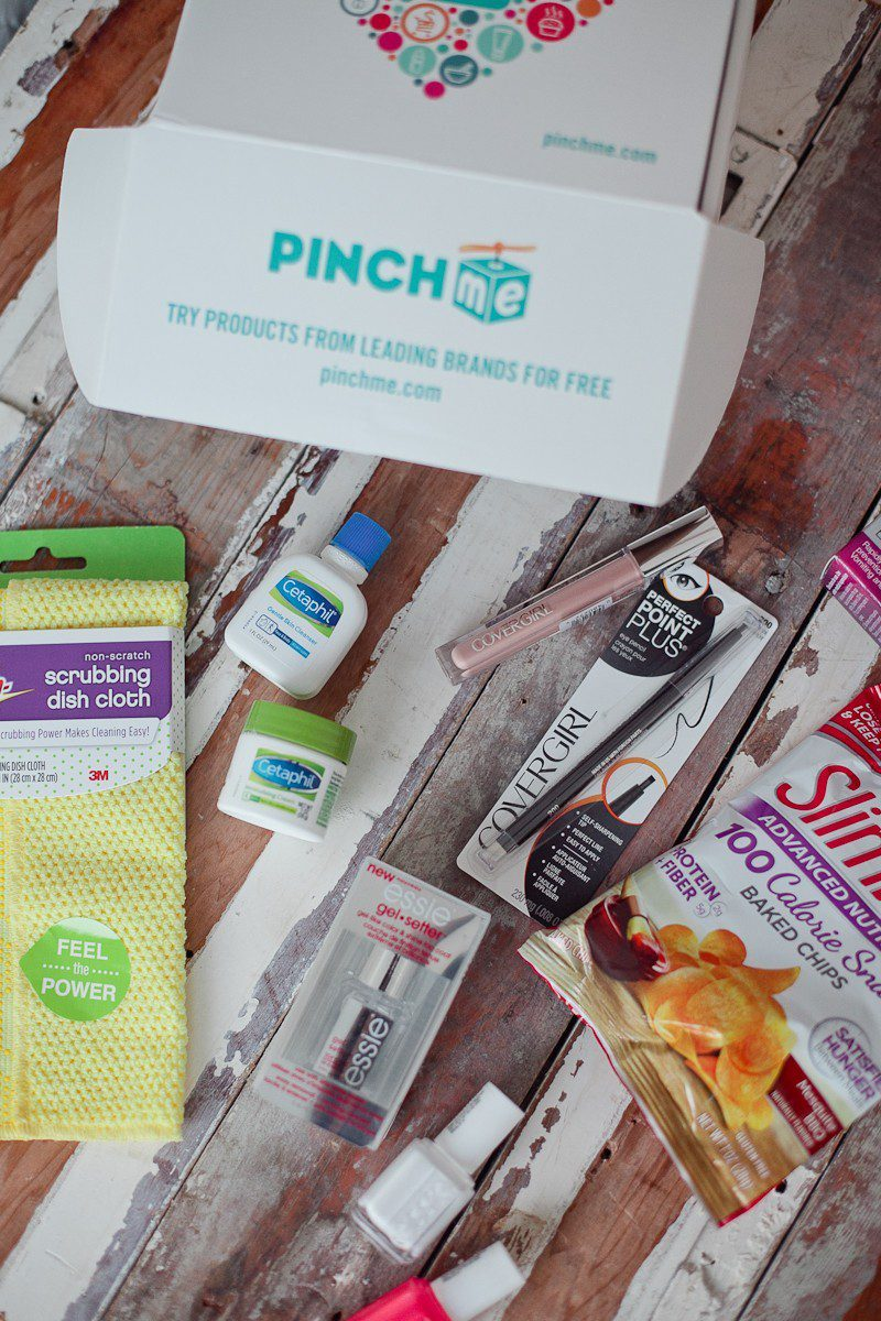 PINCHme free monthly sample box unboxing and review