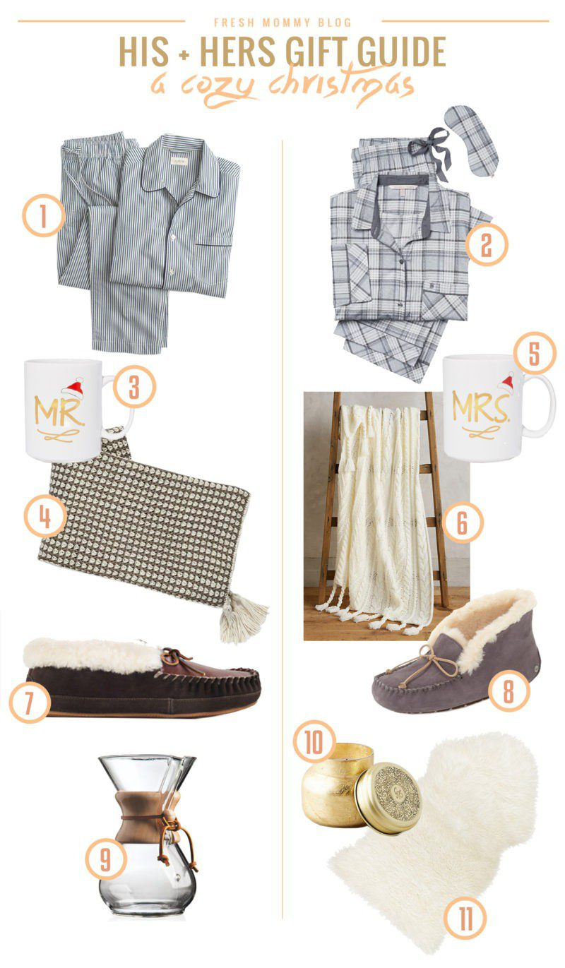 His & Hers Cozy Gift Ideas | Gift Guide | Fresh Mommy Blog