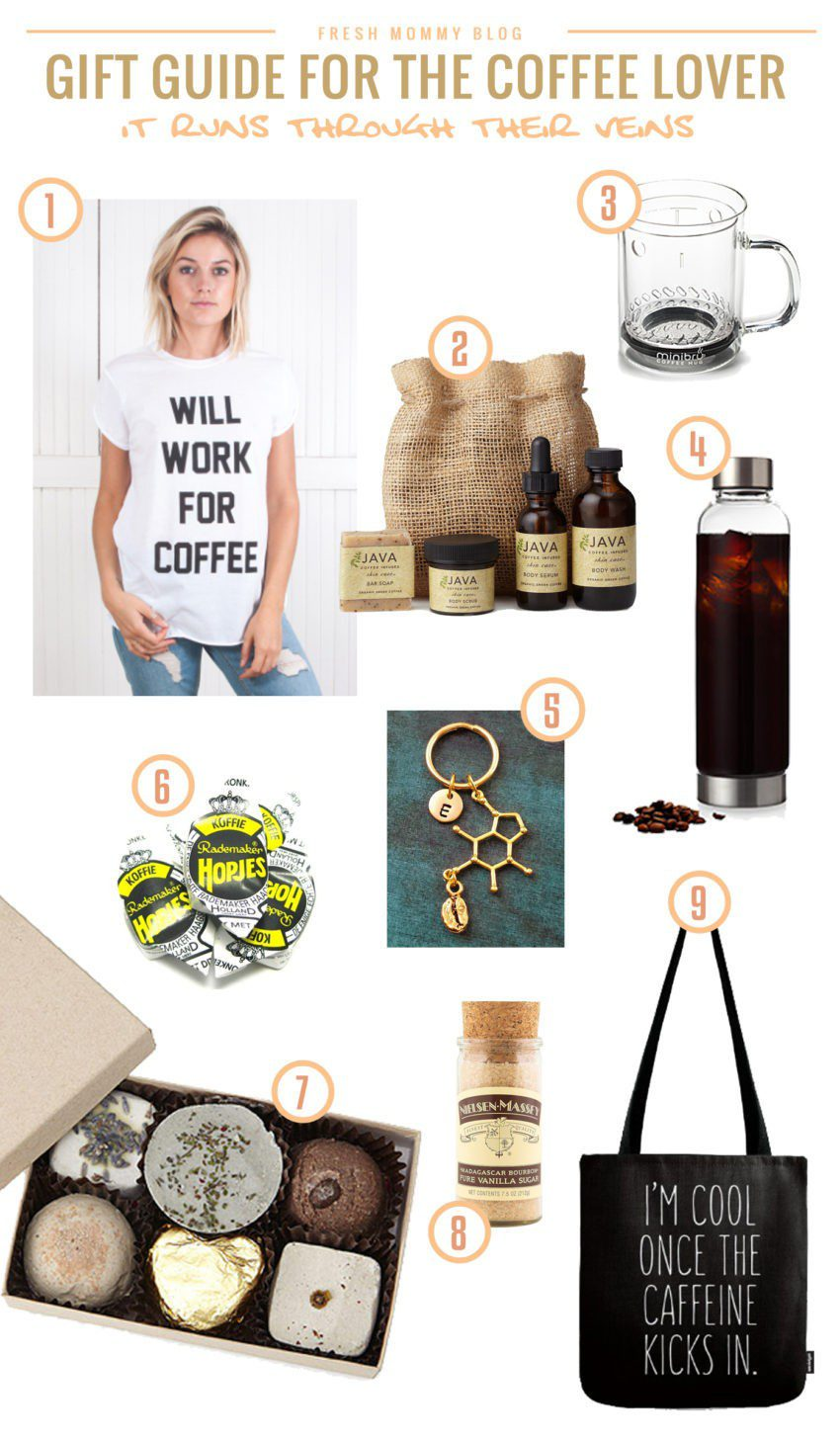 From our DIY Coffee Bar Cart to our homemade Pumpkin Spice Latte and more, we're definitely coffee lovers and rounded up our top gifts for the coffee lover!