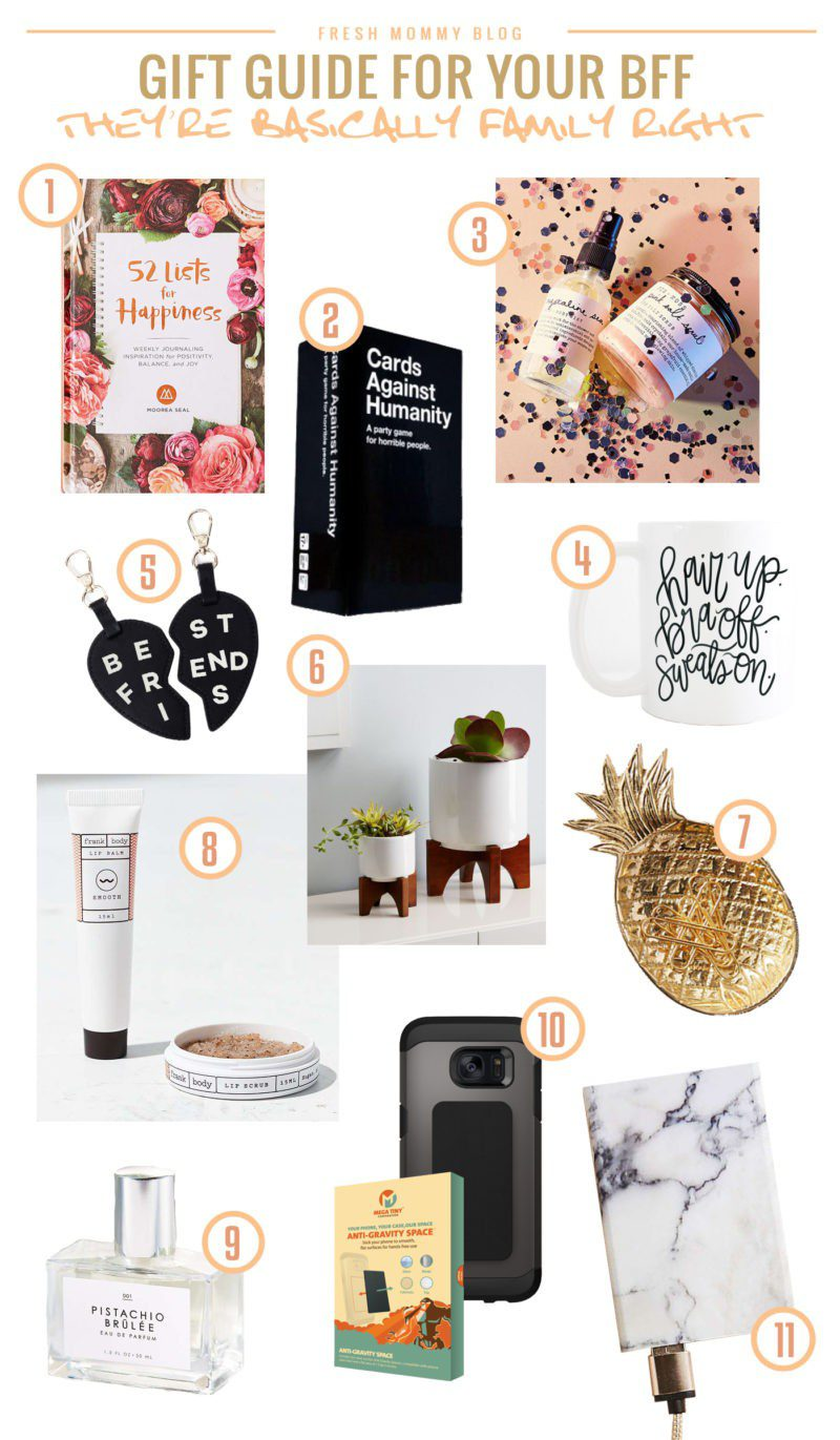 Gift Guide for you BFF. Get the bestie in your life something she'll love... she just might not know it yet.