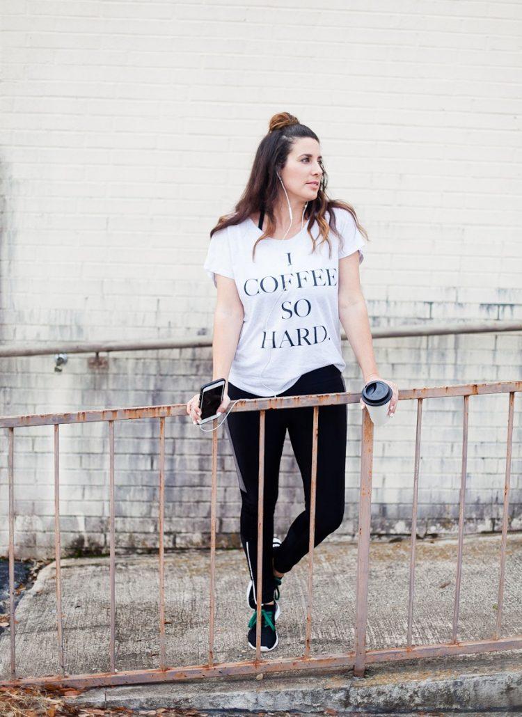 OOTD Comfortable Athleisure Wear: I Coffee So Hard Tee
