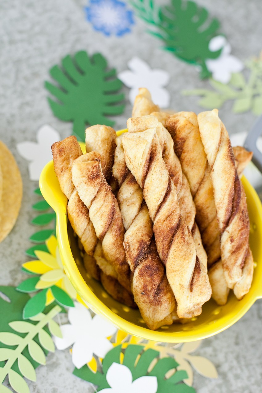 A Cinco De Mayo party and the easiest churro recipe ever!
