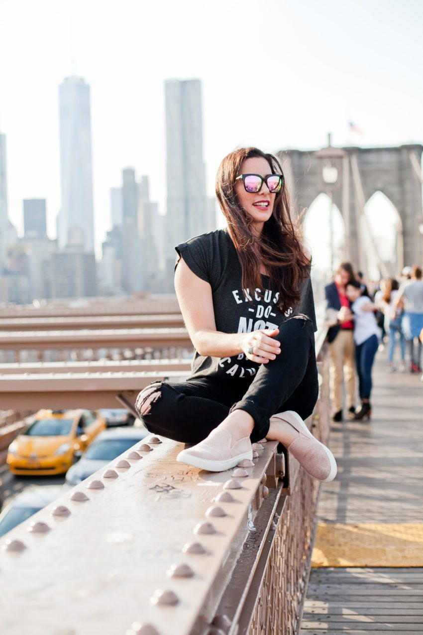 Jumpstart Your Life by Mastering Excuses! How to overcome fear and break through excuses to find success in any area. Fun Brooklyn Bridge photos! - Why it's Time to Stop Making Excuses featured by popular Florida lifestyle blogger, Tabitha Blue of Fresh Mommy Blog