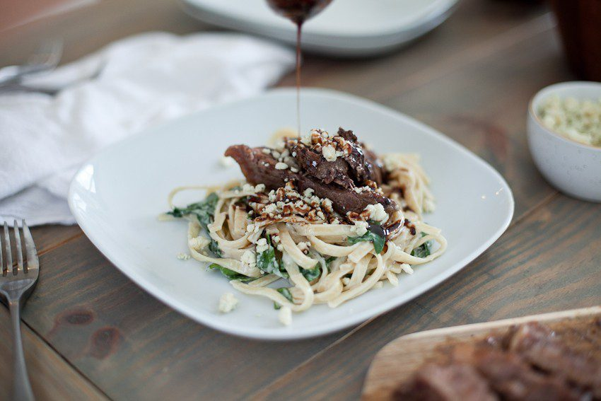 Steak Gorgonzola Alfredo With Balsamic Glaze Celebrating Dad Fresh Mommy Blog