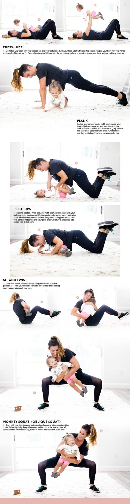 Mom and Baby Workout Routine by popular Florida mommy blogger Fresh Mommy Blog
