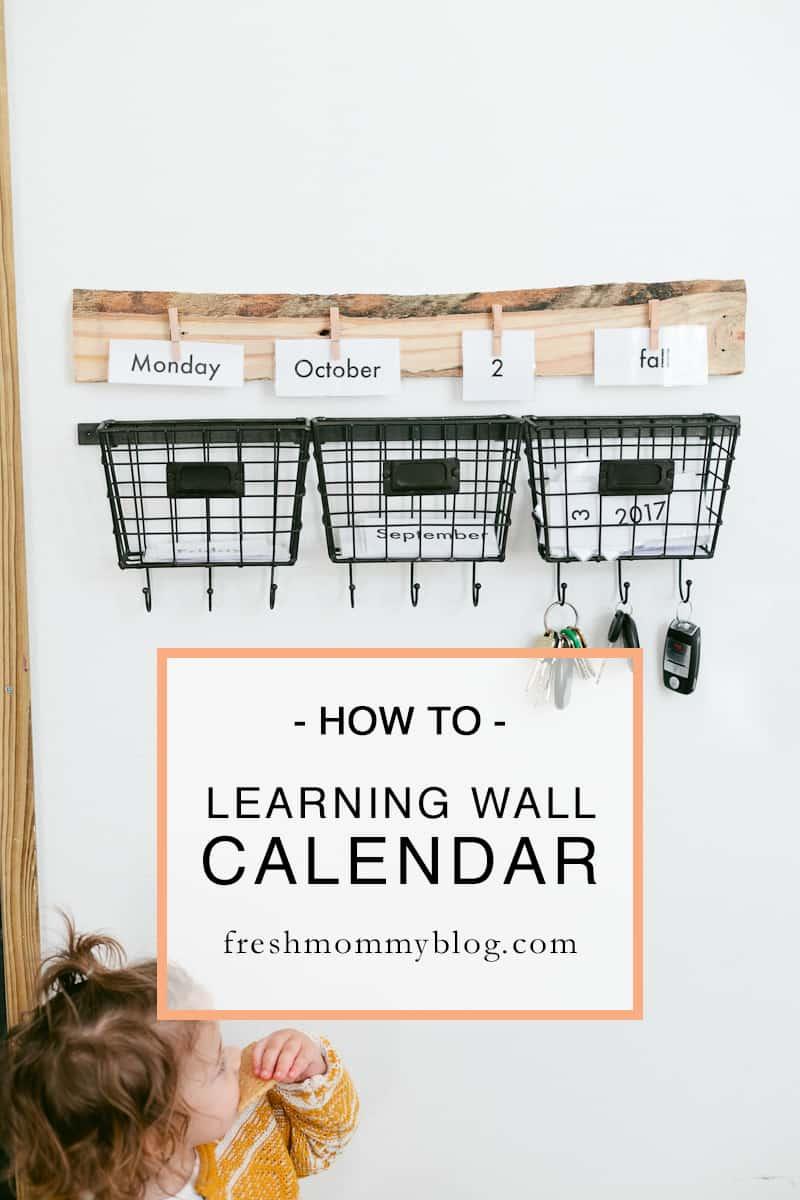 Calendar Design Diy : Inexpensive diy family wall calendar food fun kids