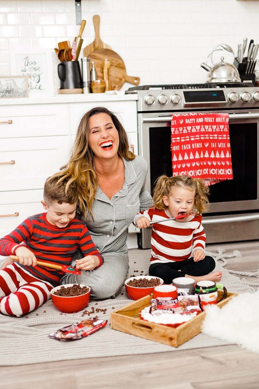 Living my best life, getting showered in chocolate! Every girl's dream right? Okay, so maybe not literally, but I'm pretty sure my kids had a blast with it. ? #ad We love making our creamy crockpot hot chocolate, especially on a chilly day! Nothing warms and comforts like a steaming cup of cocoa and our version with @Hersheys Special Dark Chocolate Chips is a total crowd pleaser. It's rich, smooth and delicious! Plus, it's easy to make, just toss the ingredients in the crockpot and let it take care of the rest.