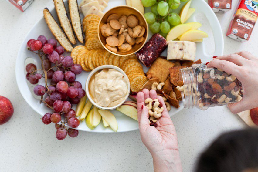 Eggnog Dessert Hummus + How to Make a Sweet Family Friendly Holiday Party Platter