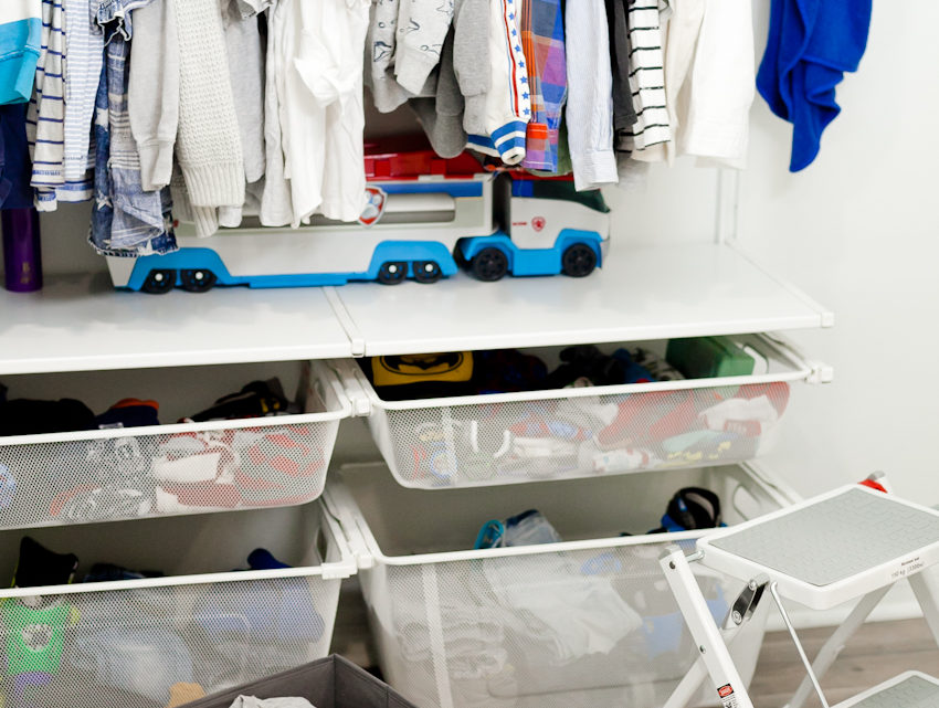 Kids Closet Organization by popular Florida mom blogger Fresh Mommy Blog