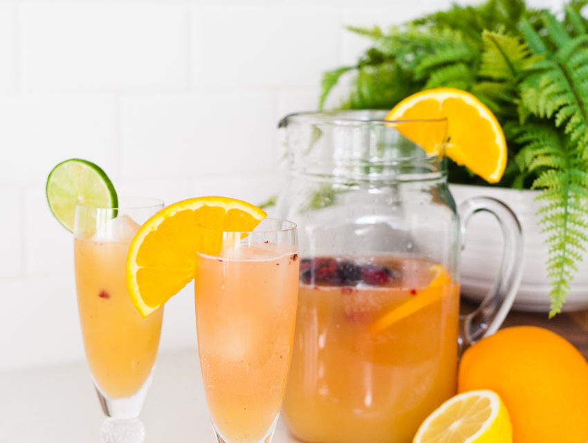 A Refreshing Citrus Spring Sipper Mocktail Recipe by popular Florida lifestyle blogger Fresh Mommy Blog