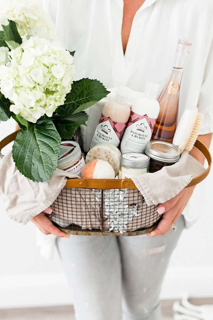 How to Create The Ultimate Pampering Mother's Day Gift Basket with gift basket ideas for creating an at home spa, shopping list and more for the perfect gift basket DIY. From popular Florida lifestyle and mom blogger Tabitha Blue of Fresh Mommy Blog - The Ultimate Pampering Mothers Day Gift Basket featured by popular Florida lifestyle blogger, Fresh Mommy Blog