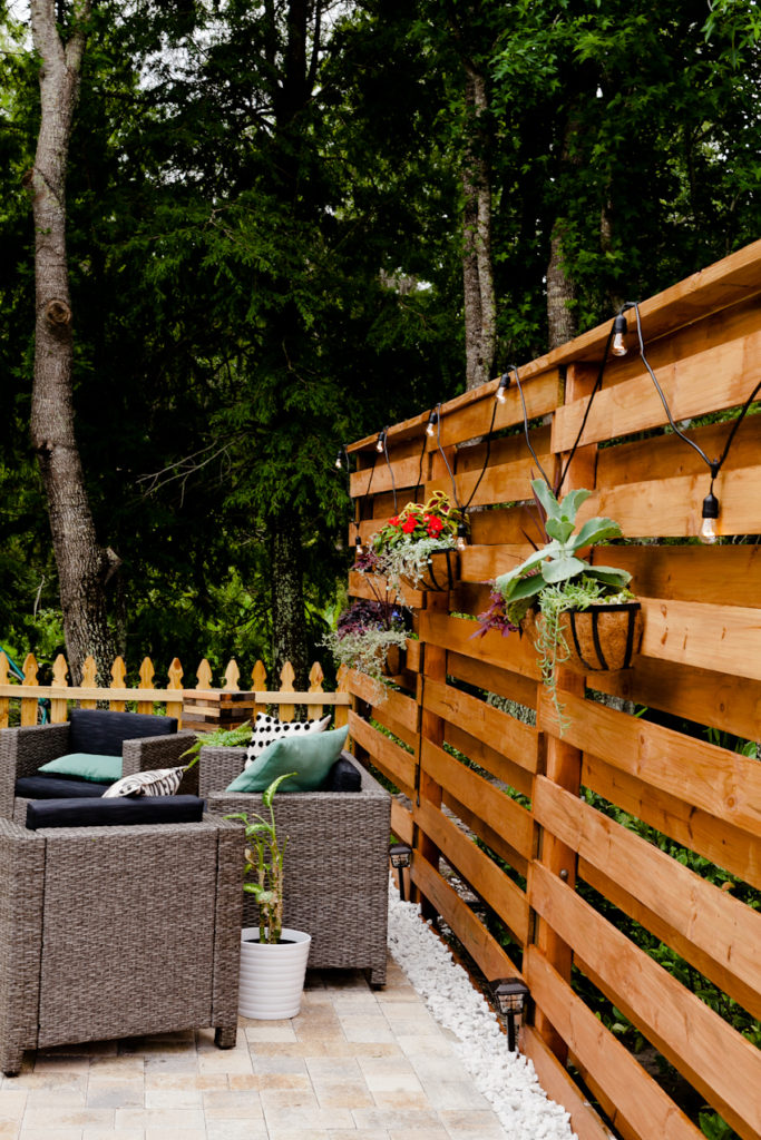 Home Improvement Projects featured by top US home improvement blog Fresh Mommy Blog; Image of a backyard.