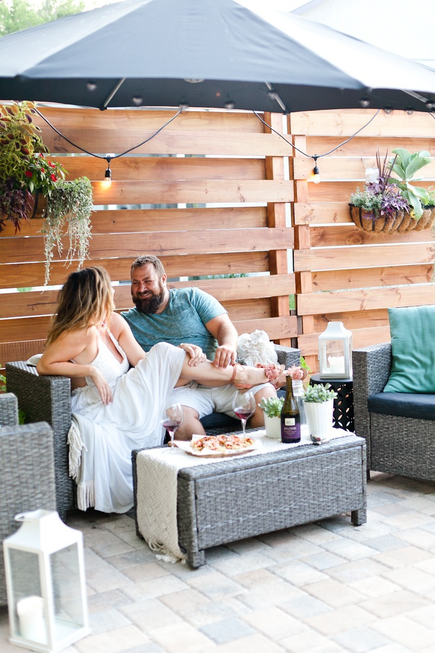 Our Patio Date Night and a Delicious Pizza Waffle Fries Recipe