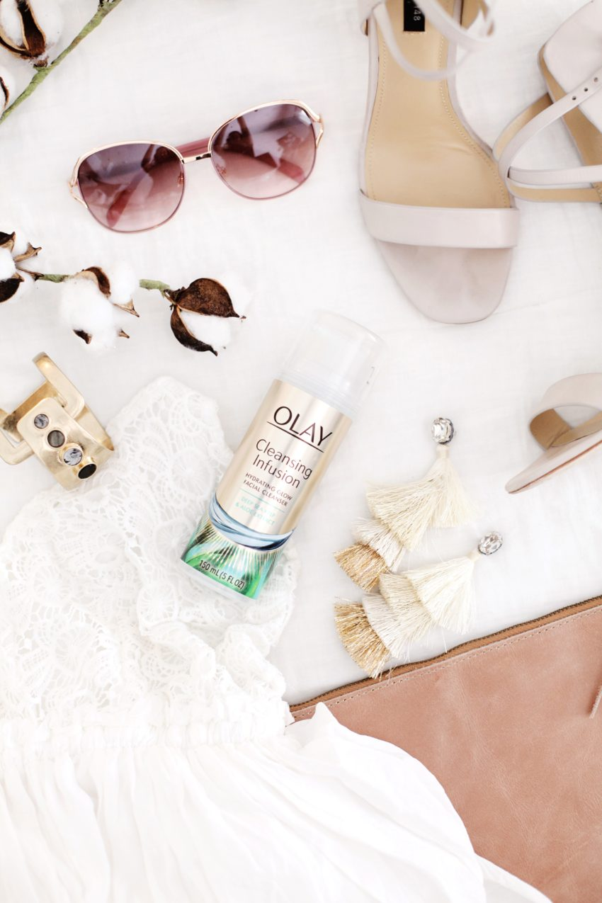 Summer skincare routine and why a soy based cleanser has been so good for clean, glowing skin; featured by popular Florida lifestyle blogger, Tabitha Blue of Fresh Mommy Blog
