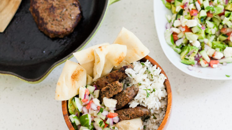 A delicious and simple Mediterranean Bowl recipe with Greek Salsa and Tabbouleh Rice was so easy to whip up with organic, grass-fed Mediterranean burger patties from TRIBALÍ Foods in Target. This Mediterranean bowl recipe is featured by popular Florida lifestyle and food blogger Tabitha Blue of Fresh Mommy Blog. - Delicious Mediterranean Bowl with Greek Salsa and Tabbouleh Rice, featured by popular Florida lifestyle blogger, Fresh Mommy Blog