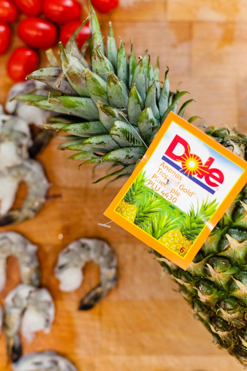 Shrimp and Pineapple Incredible Edible Skewer with Pineapple Fried Rice Recipe featured by popular Florida life and style blogger Fresh Mommy Blog