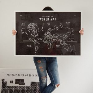 World Map School Room Art Print Download