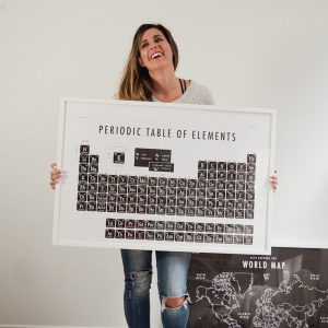 Periodic Table of Elements School Room Print