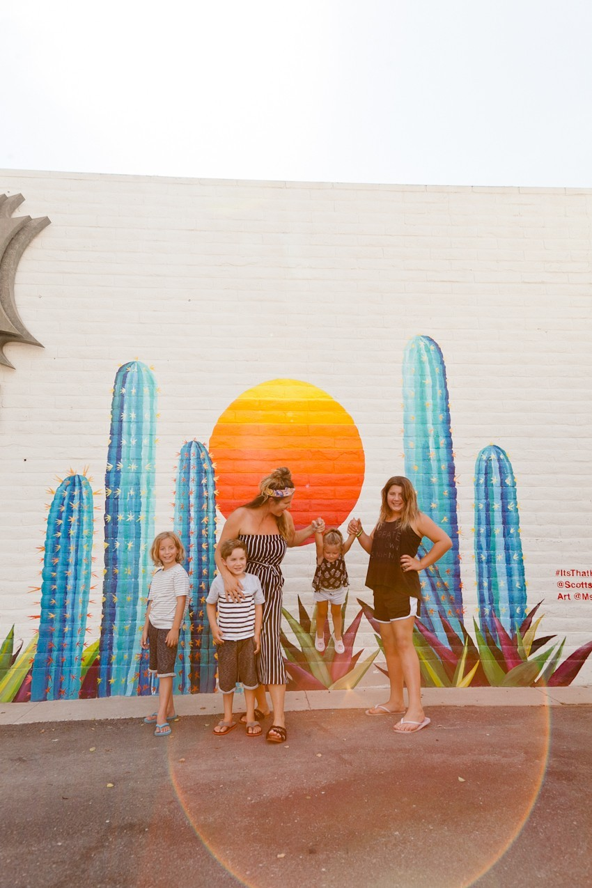 The Best Things to Do in Scottsdale, AZ with your Family. The best places to stay, eat and play and where to find this iconic wall art!
