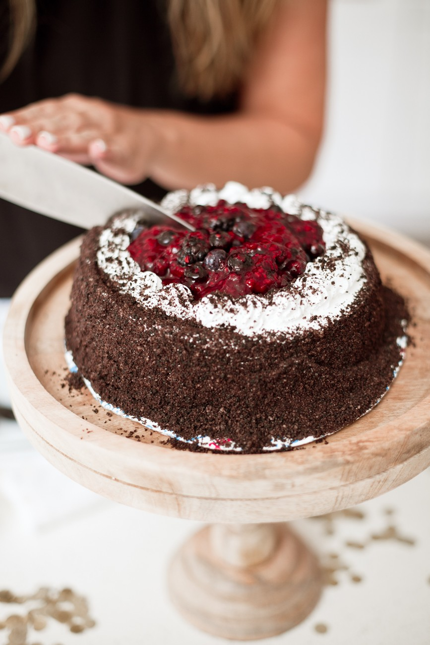 Triple Berry Compote recipe on Ice Cream Cake featured by popular Florida life and style blogger, Tabitha Blue of Fresh Mommy Blog