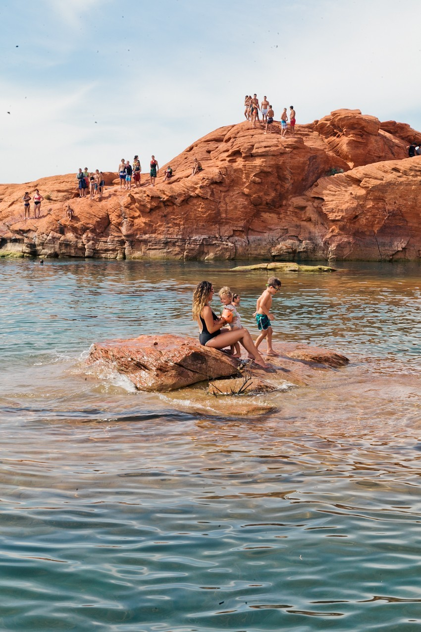 The Ultimate Spot for Cliff Jumping at Sand Hollow | Southern Utah Travel Guide featured by popular Florida travel blogger Fresh Mommy Blog