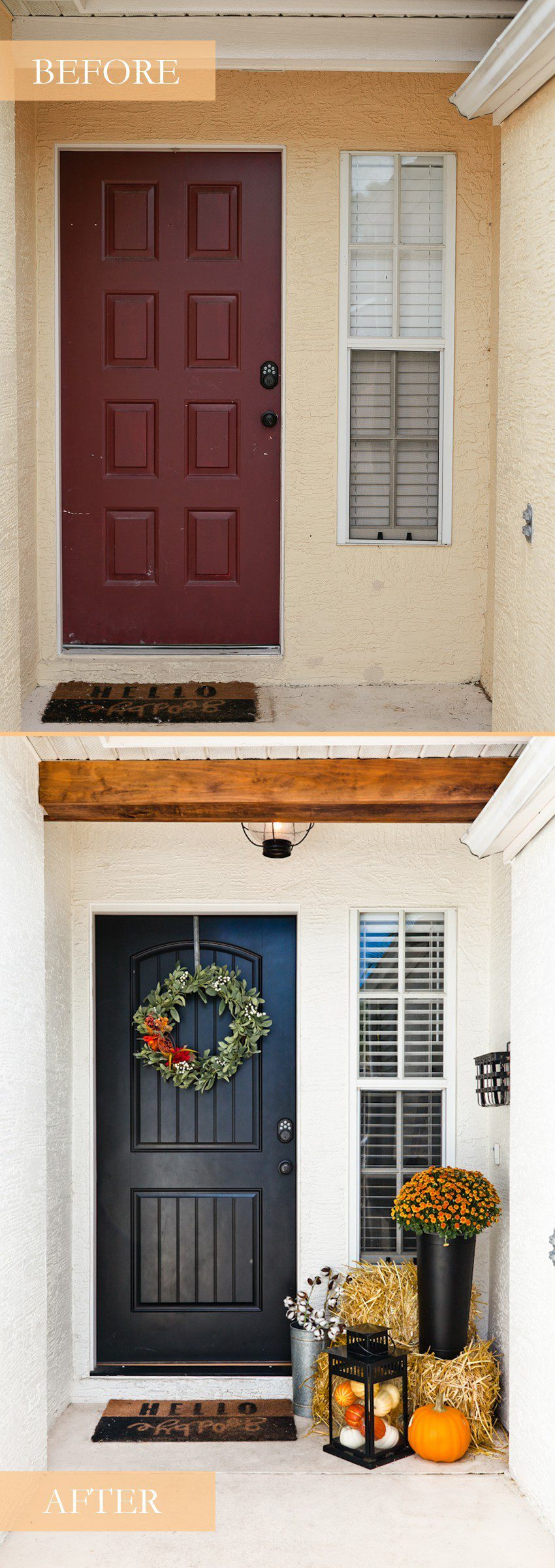 Therma-Tru Benchmark | Tabitha Blue | Hello Fall + Easy DIY Front Porch Decor Hacks That Will Take You Through All Seasons featured by top Florida lifestyle blog Fresh Mommy Blog