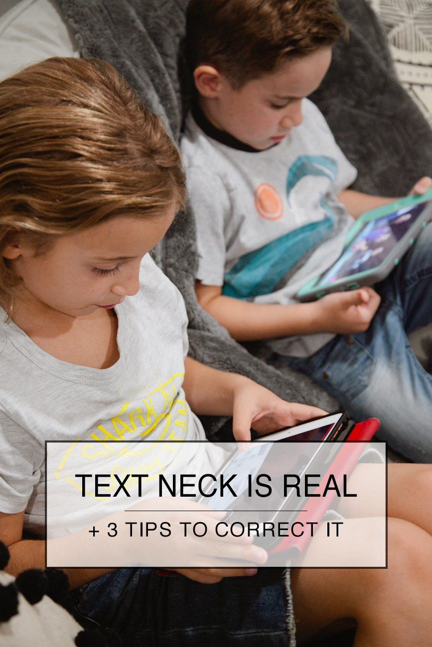 Text Neck is real! Here are three things you can do about it. | 3 Things to Do to Avoid Text Neck featured by popular Florida life and style blogger, Tabitha Blue of Fresh Mommy Blog