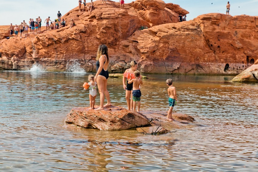 The Ultimate Spot for Cliff Jumping at Sand Hollow   Southern Utah Travel Guide