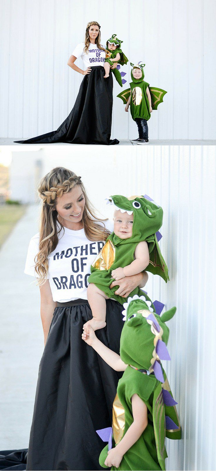 Mother of Dragons Family costume idea from Bel and Beau, plus 10 favorite family costumes (with ideas for baby too!) from popular Florida lifestyle blogger Tabitha Blue of Fresh Mommy Blog! | Cute Halloween Family Costume Ideas featured by top Florida lifestyle blogger, Fresh Mommy Blog: Mother of Dragons