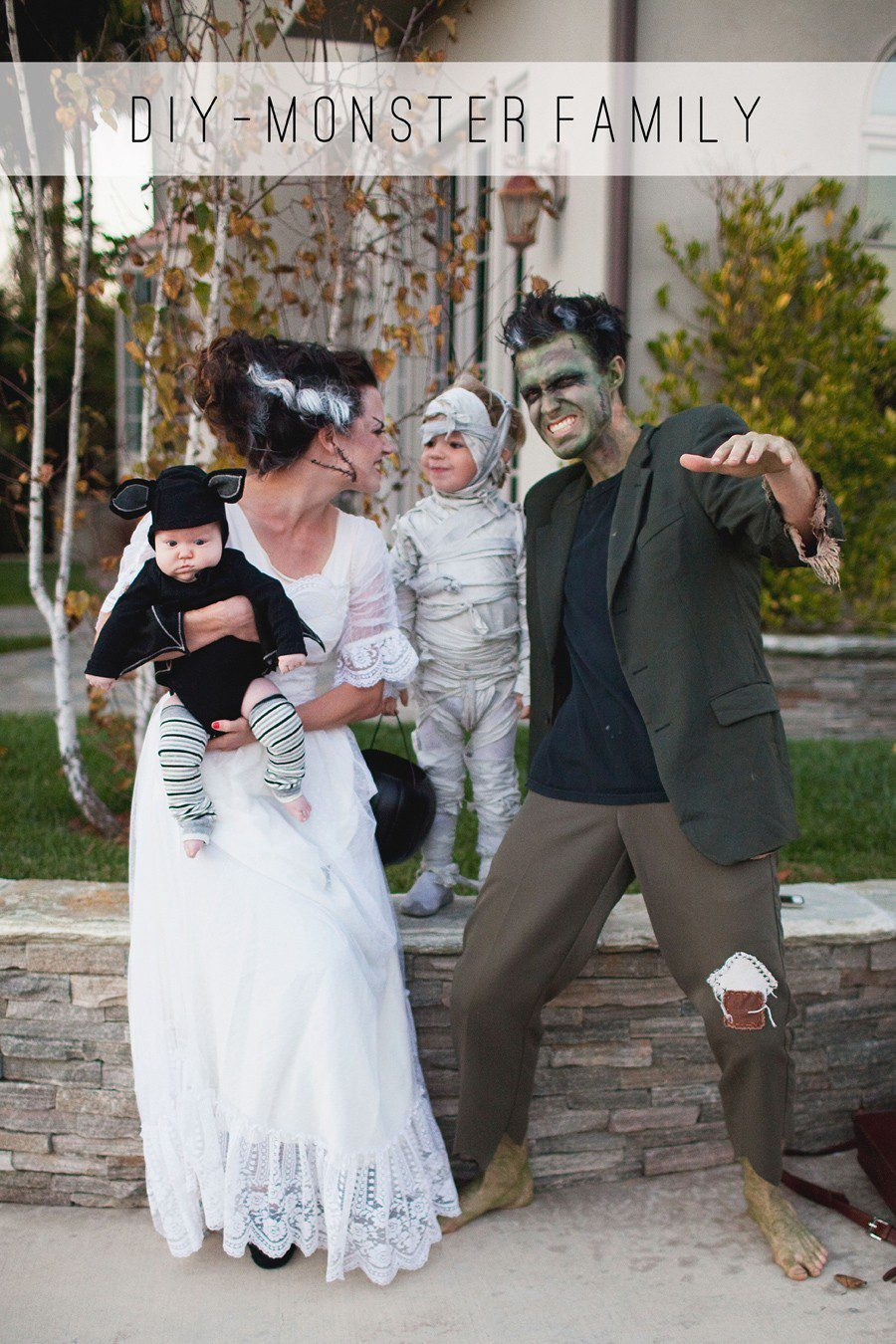 Monster Family costume idea from Tell Love and Party, plus 10 favorite family costumes (with ideas for baby too!) from popular Florida lifestyle blogger Tabitha Blue of Fresh Mommy Blog! | Cute Halloween Family Costume Ideas featured by top Florida lifestyle blogger, Fresh Mommy Blog: Monster Family