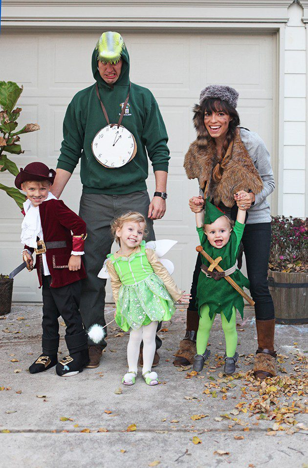 Peter Pan and the Crew for a Neverland Family costume idea from IHOD, plus 10 favorite family costumes (with ideas for baby too!) from popular Florida lifestyle blogger Tabitha Blue of Fresh Mommy Blog! | Cute Halloween Family Costume Ideas featured by top Florida lifestyle blogger, Fresh Mommy Blog: Neverland Crew