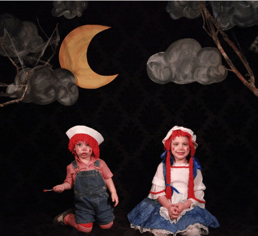 DIY Raggedy Ann and Andy Costume | Fresh Mommy Blog - Easy DIY Incredibles Family Costume by popular Florida lifestyle blogger Fresh Mommy Blog | Cute Halloween Family Costume Ideas featured by top Florida lifestyle blogger, Fresh Mommy Blog: Rag Doll Family