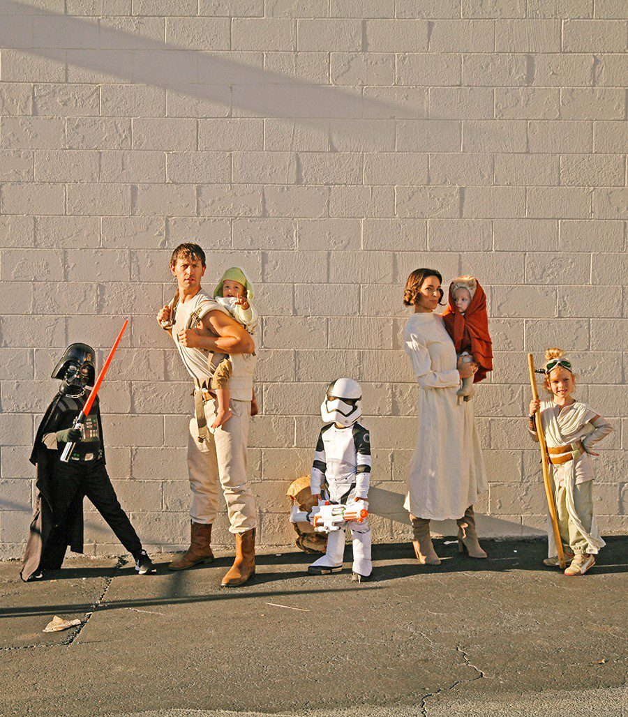 Star Wars Family costume idea from IHOD, plus 10 favorite family costumes (with ideas for baby too!) from popular Florida lifestyle blogger Tabitha Blue of Fresh Mommy Blog! | Cute Halloween Family Costume Ideas featured by top Florida lifestyle blogger, Fresh Mommy Blog: Star Wars family