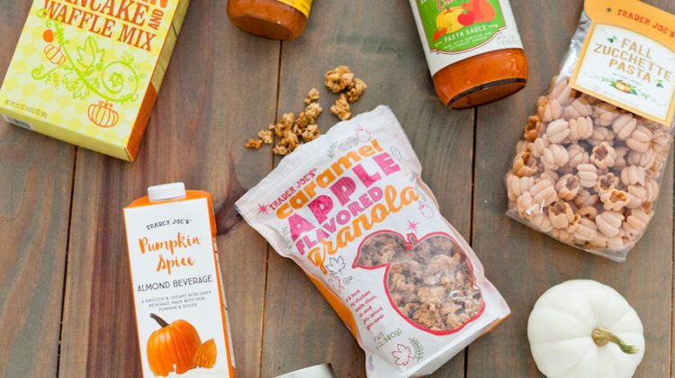 The best fall Trader Joe's haul! All of our delicious pumpkin favorites and fall flavors! A shopping guide from popular Florida lifestyle blogger Tabitha Blue of Fresh Mommy Blog.