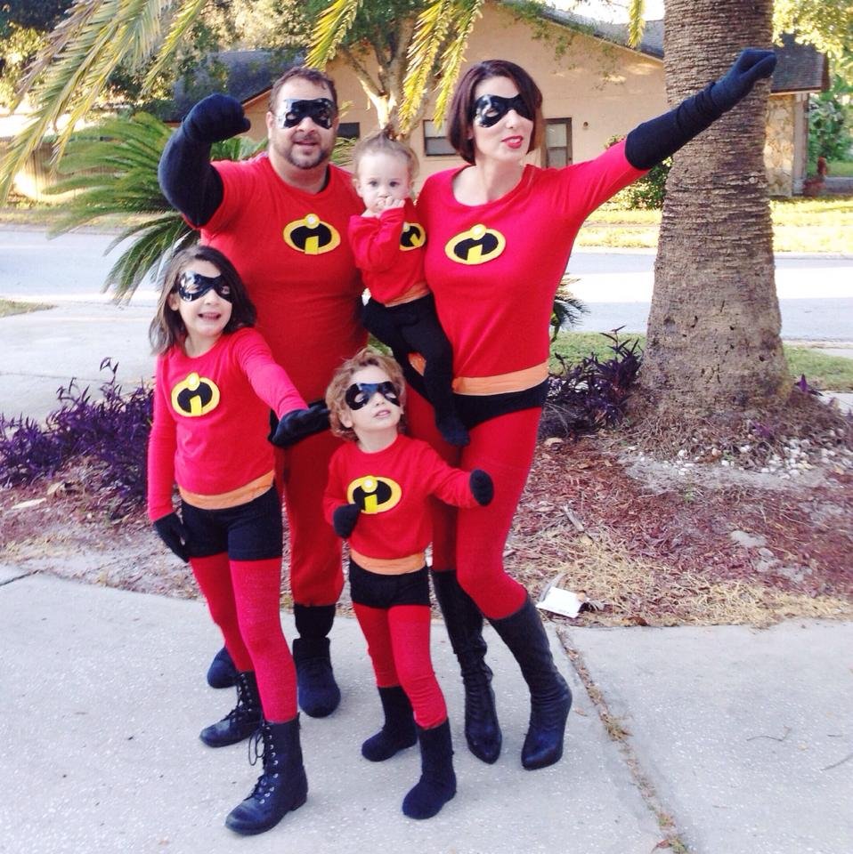 DIY Incredibles Costume | Fresh Mommy Blog - Easy DIY Incredibles Family Costume by popular Florida lifestyle blogger Fresh Mommy Blog | Cute Halloween Family Costume Ideas featured by top Florida lifestyle blogger, Fresh Mommy Blog: The Incredibles