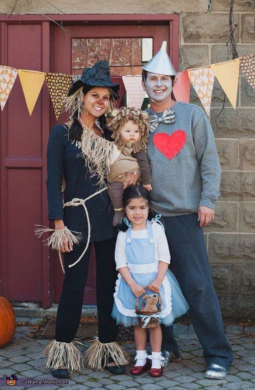 Wizard of Oz Family costume idea, plus 10 favorite family costumes (with ideas for baby too!) from popular Florida lifestyle blogger Tabitha Blue of Fresh Mommy Blog! | Cute Halloween Family Costume Ideas featured by top Florida lifestyle blogger, Fresh Mommy Blog: Wizard of Oz