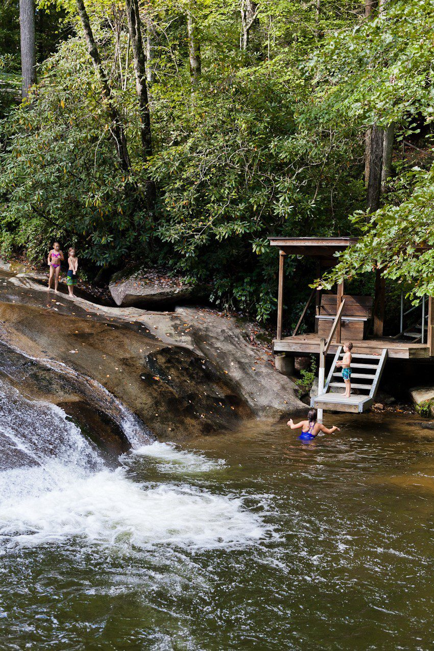 A Quick Maggie Valley Travel Guide for your Next Smoky Mountains Vacation featured by top Florida travel, life and style blog, Fresh Mommy Blog: hiking and waterfalls - Sliding Rock