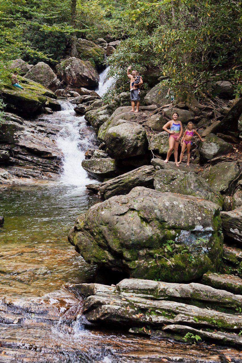 A Quick Maggie Valley Travel Guide for your Next Smoky Mountains Vacation featured by top Florida travel, life and style blog, Fresh Mommy Blog: hiking and waterfalls