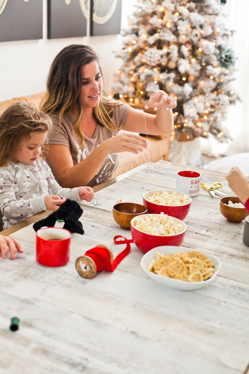 How to Host your Own Festive Tree Trimming Party from top Florida lifestyle blogger Tabitha Blue of Fresh Mommy Blog: image of Boom Chicka Pop snacks for the perfect tree trimming party