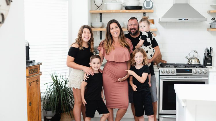 Large Family Pregnancy Announcement Photo with Tabitha Blue of Fresh Mommy Blog