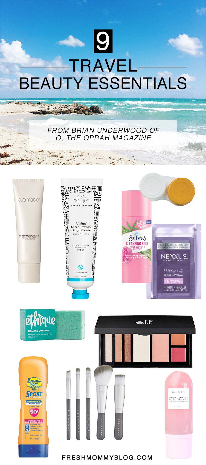 Travel Beauty Essentials featured by top US beauty blog Fresh Mommy Blog