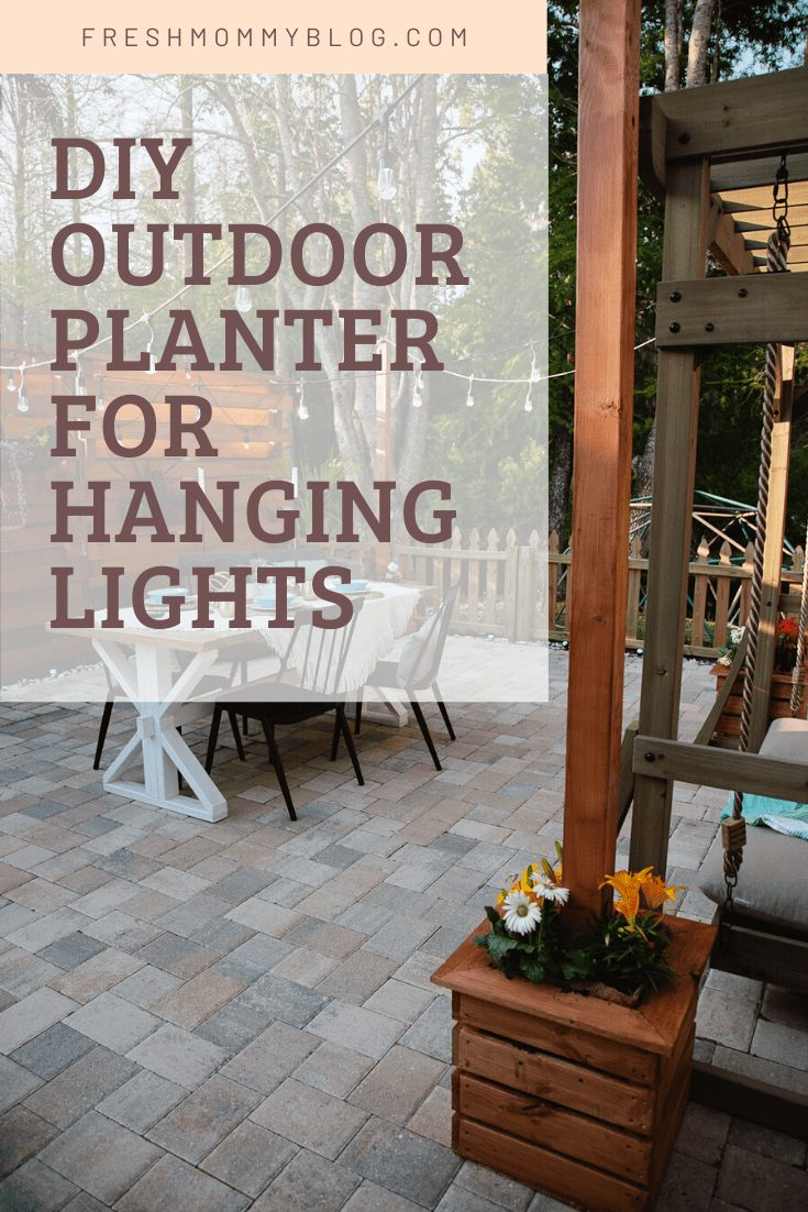DIY Planter for Hanging String Lighting