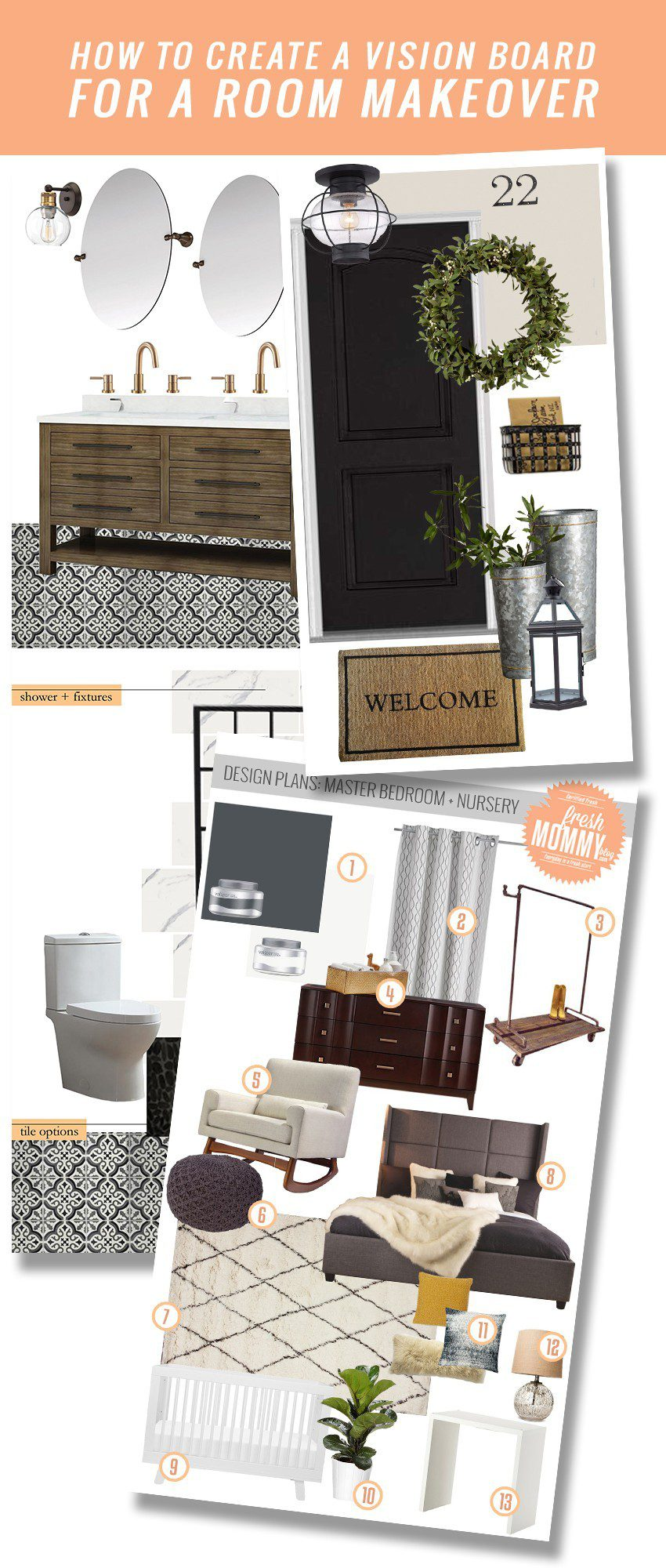 How to Create a Mood Board for your Next Room Makeover featured by top US Home DIY blog, Fresh Mommy Blog
