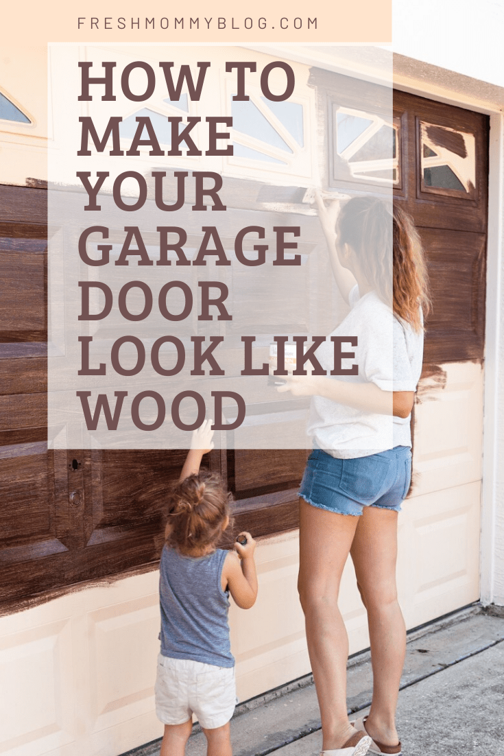 DIY Garage Makeover with gel stain to look like wood