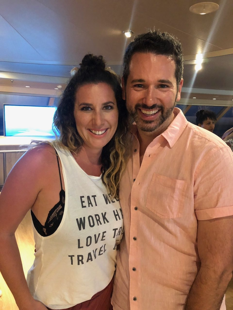 5 Amazing Reason to go on a Holland America cruise with Oprah Magazine by popular US lifestyle blog Fresh Mommy Blog: image of of Tabitha Blue with O, The Opera Magazine beauty editor Brian Underwood.