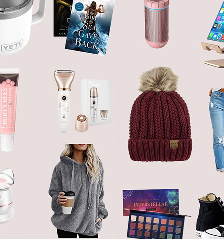 2020 holiday gift guide for the tween and teen girl | Holiday Gift Guide: Top 16 Best Gifts for Tween Girls on Amazon by top Florida lifestyle blogger, Fresh Mommy Blog: collage image of a ukulele, distressed denim, makeup pallet, books, brush set, photo printer, iphone holder, and hoodie from Amazon.