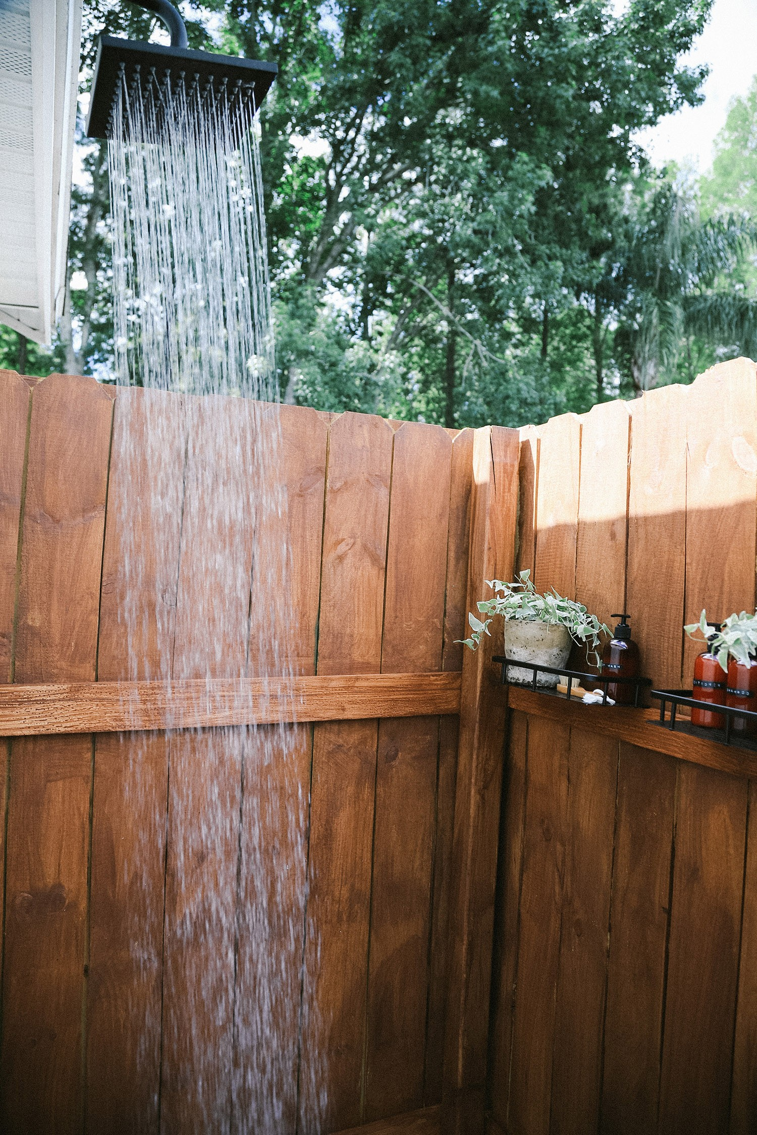 DIY Outdoor Shower Ideas on a Budget for the Ultimate Backyard Oasis | DIY Outdoor Shower by popular Florida DIY blog, Fresh Mommy Blog: image of a DIY outdoor shower.